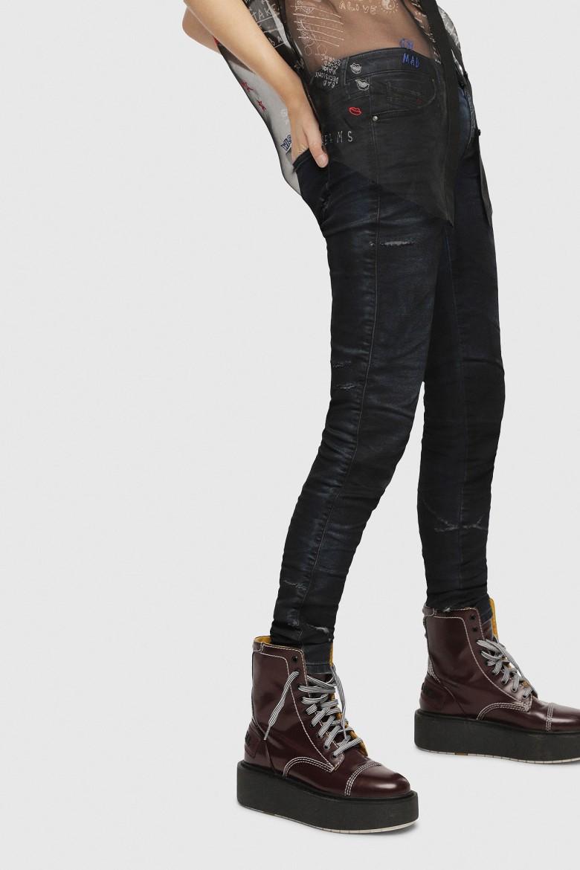 Rifle - DIESEL S.P.A.,BREGANZE GRACEYNE Sweat jeans šedo-modré