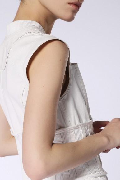 Šaty - DIESEL S.P.A.,BREGANZE DEBILL DRESS biele