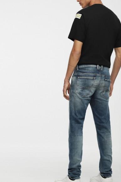 Rifle - DIESEL S.P.A.,BREGANZE THOMMERT Sweat jeans sivo-modré