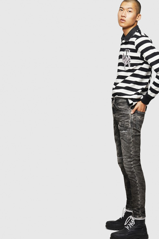 Rifle - THOMMERT Sweat jeans šedé