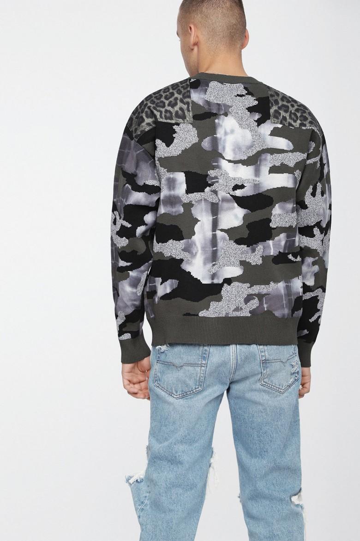 Pletený sveter- DIESEL S.P.A.,BREGANZE KCAMOUE PULLOVER rôznofarebný