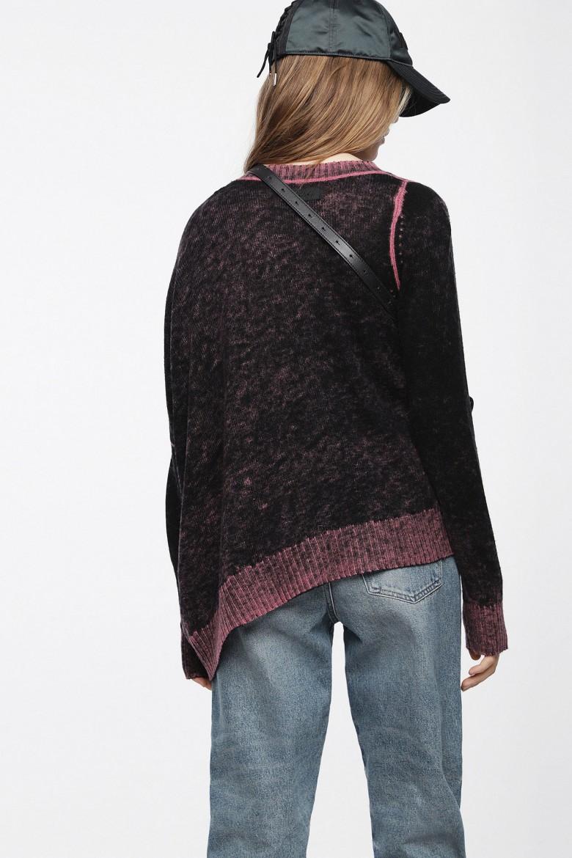 Pletený sveter - DIESEL S.P.A.,BREGANZE MSTAZ PULLOVER čierny