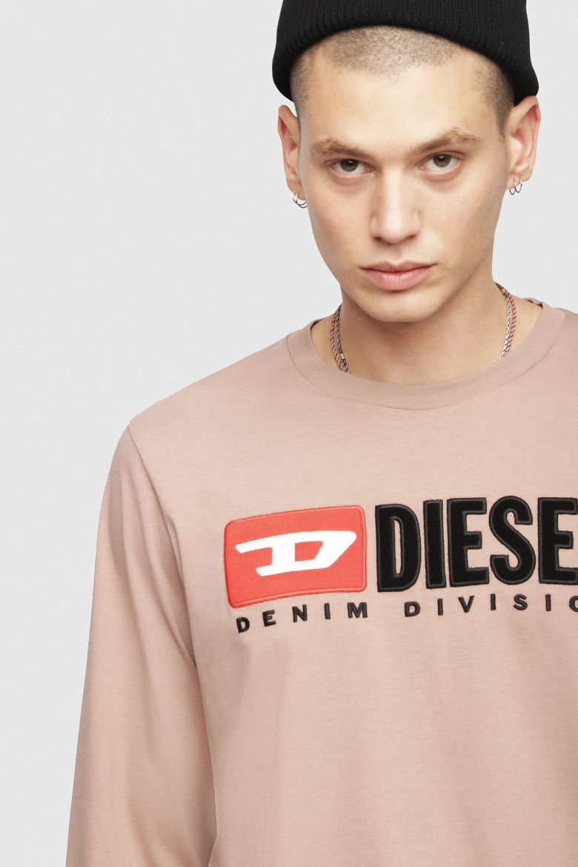 Tričko - Diesel TJUSTLSDIVISION TSHIRT púdrové