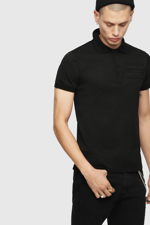 Polo tričko - DIESEL S.P.A.,BREGANZE TMIKIO POLO SHIRT čierne