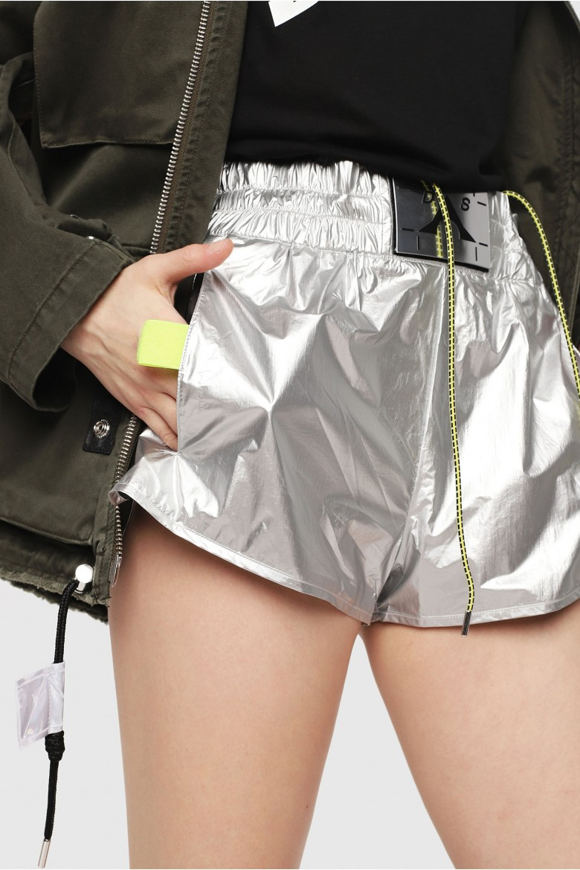 Krátke nohavice - DIESEL S.P.A.,BREGANZE SDEMIBY SHORTS metalické