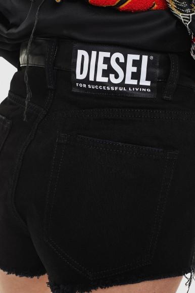 Krátke nohavice - DIESEL S.P.A.,BREGANZE DEELVIS SHORTS - čierna