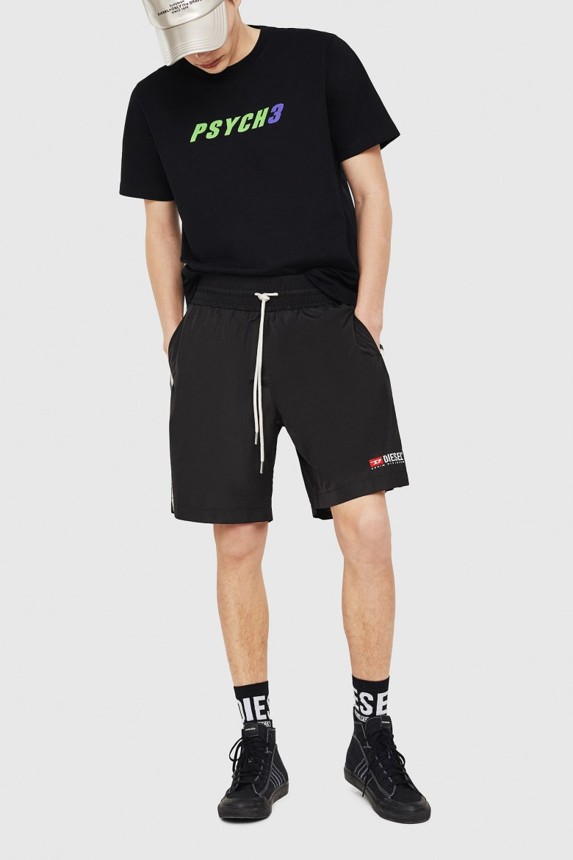 Krátke nohavice - DIESEL S.P.A.,BREGANZE PBOXIE SHORTS čierna
