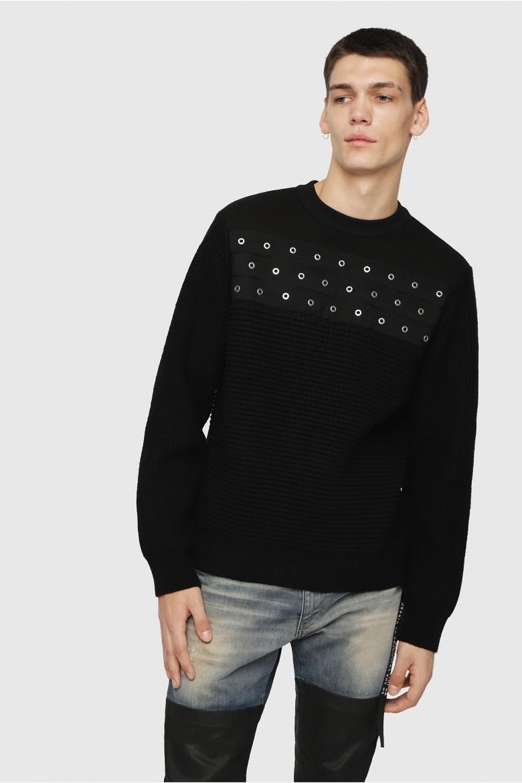 Pletený sveter - DIESEL S.P.A.,BREGANZE KRUSHIS PULLOVER čierny