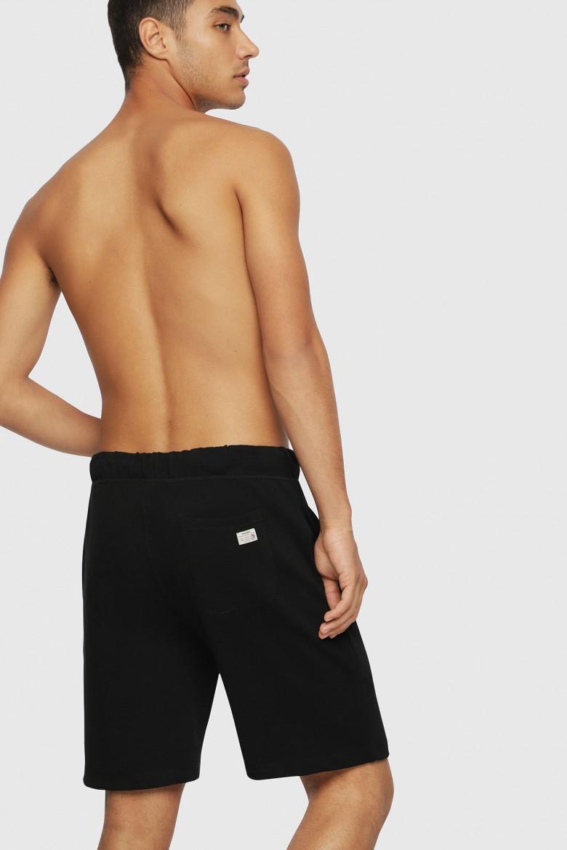 Teplákové krátke nohavice- DIESEL S.P.A.,BREGANZE UMLBPAN SHORTS čierne