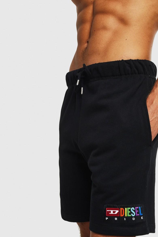 Krátke nohavice - DIESEL S.P.A.,BREGANZE UMLBPAN SHORTS čierne