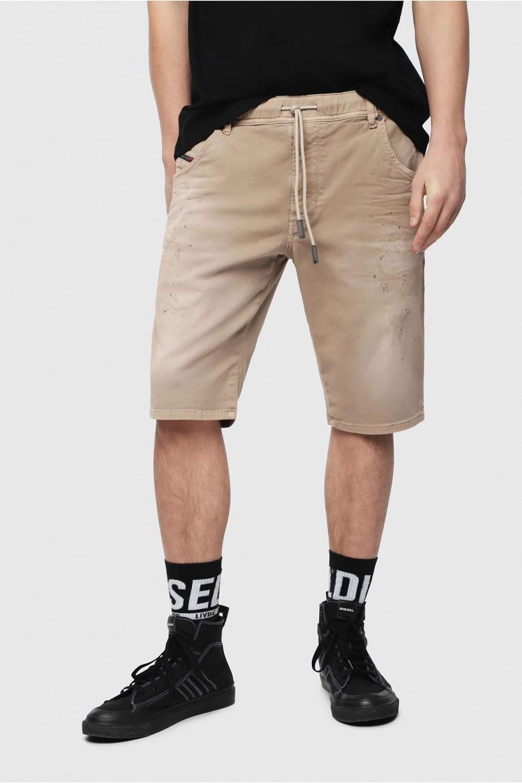 Krátke nohavice - Diesel DKROOSHORTNE SHORTS - béžová