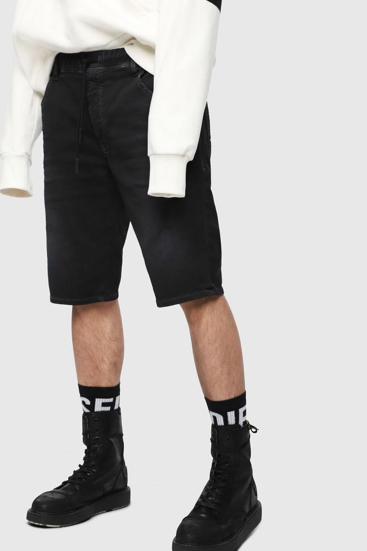 Krátke nohavice - DIESEL S.P.A.,BREGANZE DKROOSHORTNE SHORTS - čierna