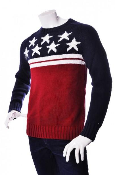 Sveter Gus cn sweater l/s modrý