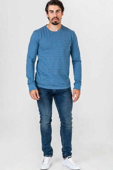 Tričko Hilfiger Denim Basic stripe cn knit l/s 2