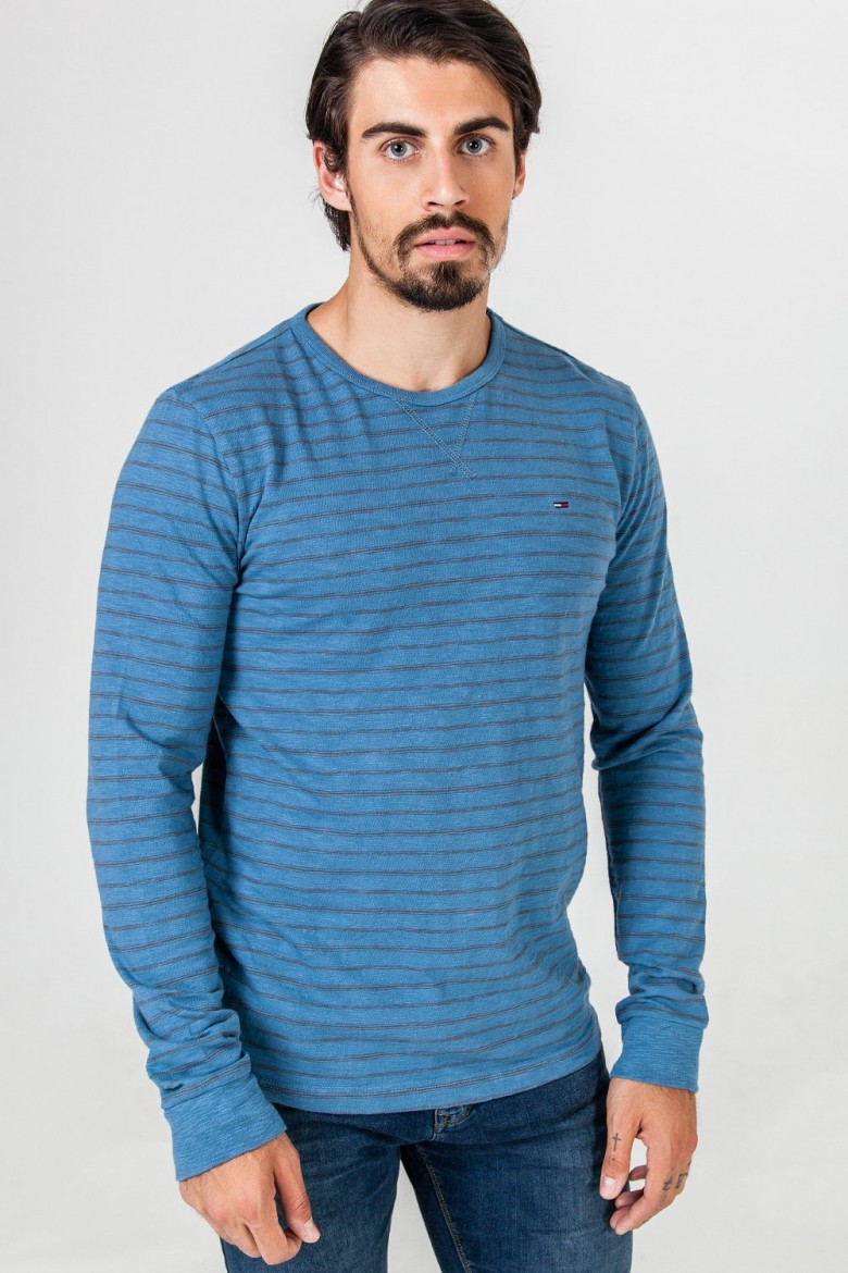 Tričko Hilfiger Denim Basic stripe cn knit l/s 2