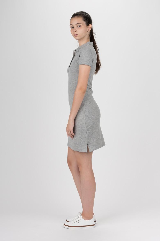 Šaty - TOMMY HILFIGER NEW CHIARA STR PQ POLO DRESS SS sivé