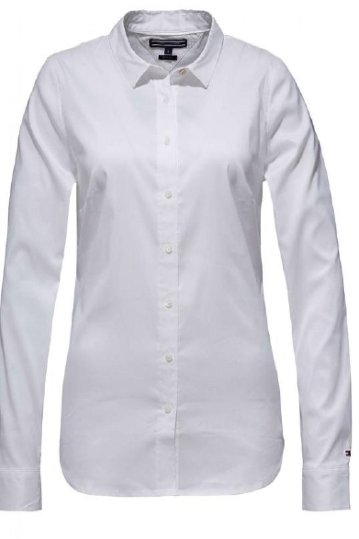 Košeľa - Tommy Hilfiger AMY STR SHIRT LS W1 biela
