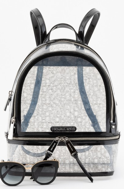 Batoh MICHAEL KORS RHEA ZIP MD BACKPACK transparentný