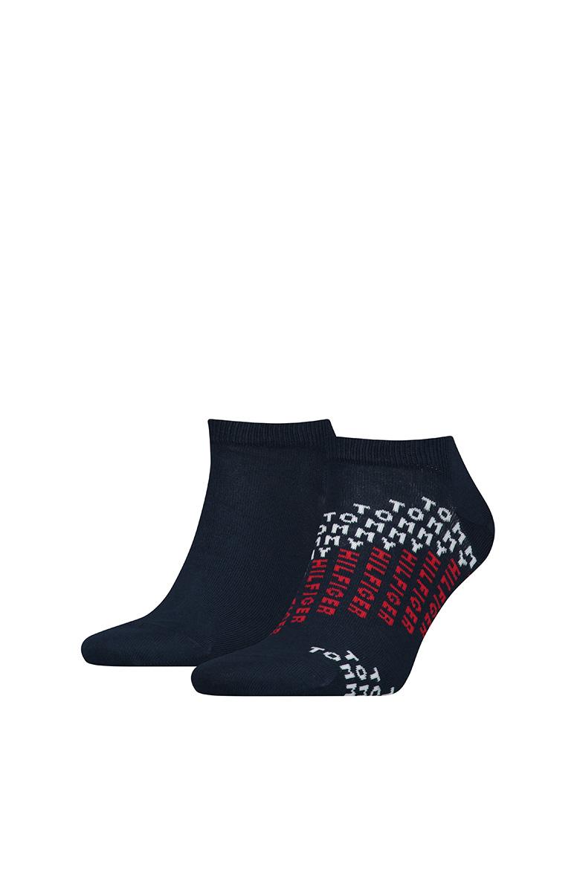 Ponožky - TH MEN SNEAKER 2P TOMMY CHEVRON  tmavomodré