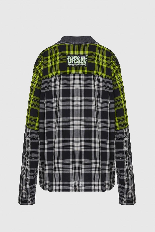 Košeľa - CNILLA SHIRT sivo- zelená