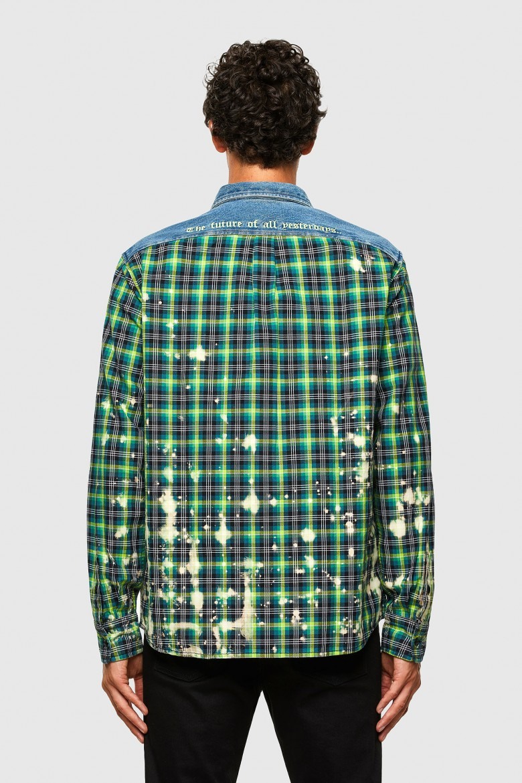 Košeľa - SMOONCHECK zelená káro