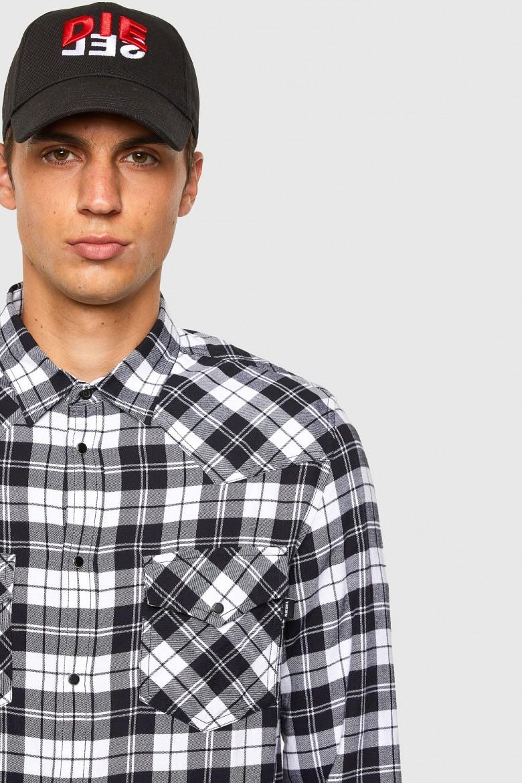 Flanelová košeľa - SEASTLONGCHK čierno-biela