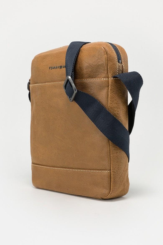 Taška na rameno - TOMMY HILFIGER CASUAL LEATHER SLIM REPORTER