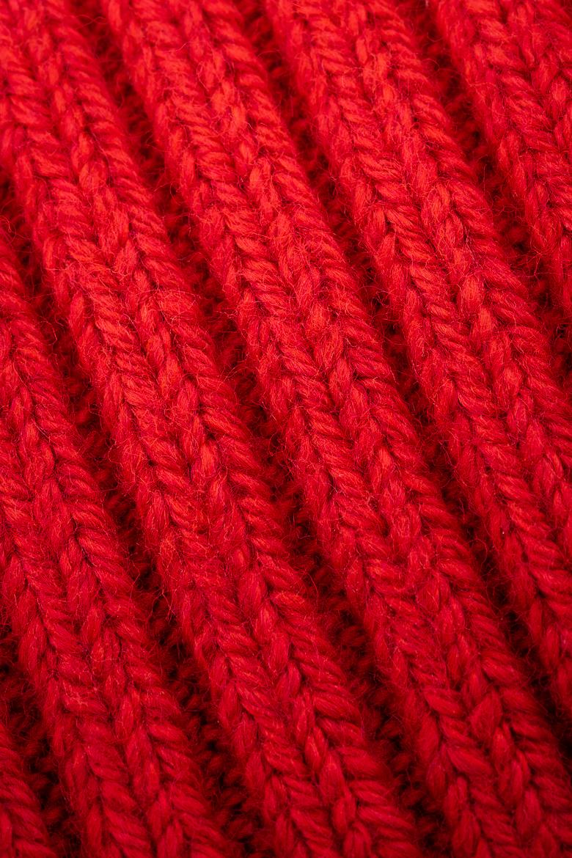 Čiapka - TOMMY HILFIGER PIMA COTTON CASHMERE BEANIE červená