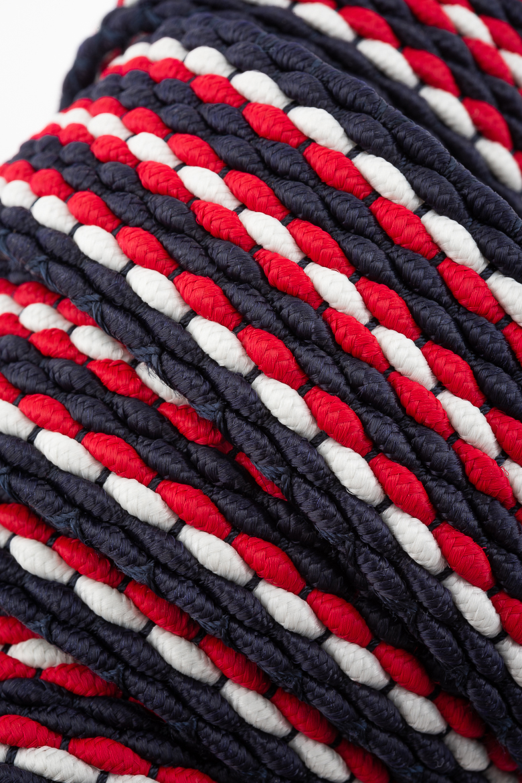 Opasok - TOMMY HILFIGER ADAN STRIPE ELASTIC BELT 3.5 modrá, biela, červená