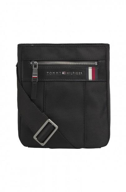 Pánska taška ELEVATED NYLON MINI CROSSOVER čiernej farby