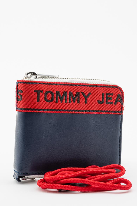 Peňaženka - TOMMY HILFIGER TJ LOGO TAPE SM ZA WLT tmavomodrá