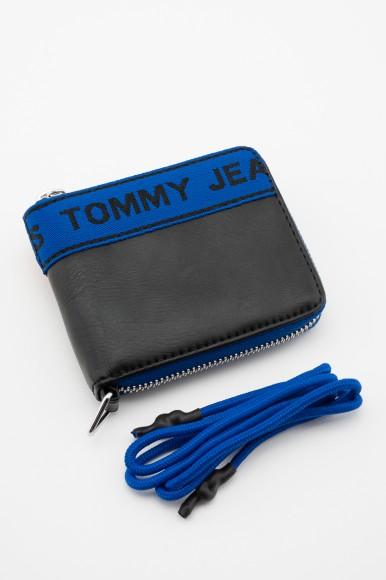 Peňaženka - TOMMY HILFIGER TJ LOGO TAPE SM ZA WLT modro-čierna