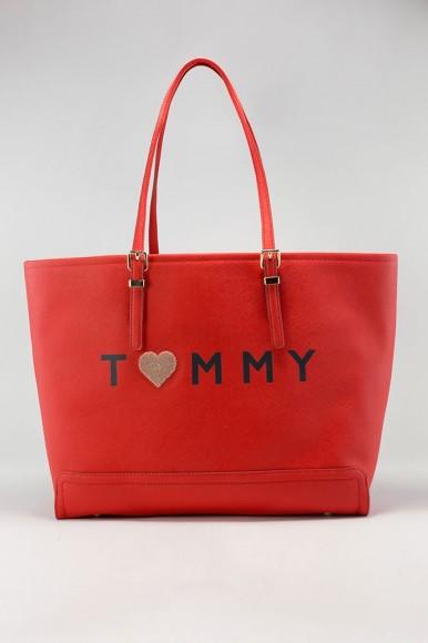 53b0d27546 Kabelka - TOMMY HILFIGER HONEY EW TOTE LOVE TOMMY