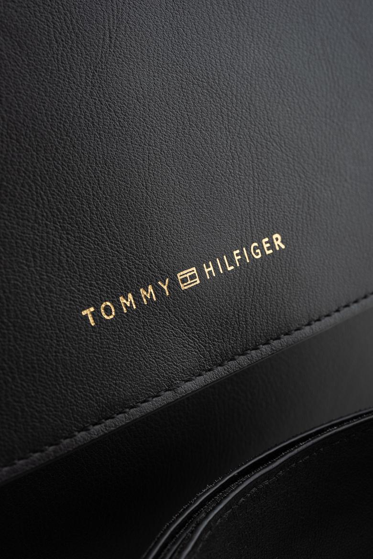 Kabelka - TOMMY HILFIGER TOMMY LEATHER CROSSOVER čierna