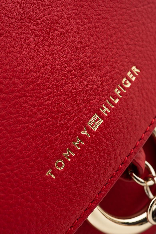 Kabelka - TOMMY HILFIGER HERITAGE LEATHER CROSSOVER červená