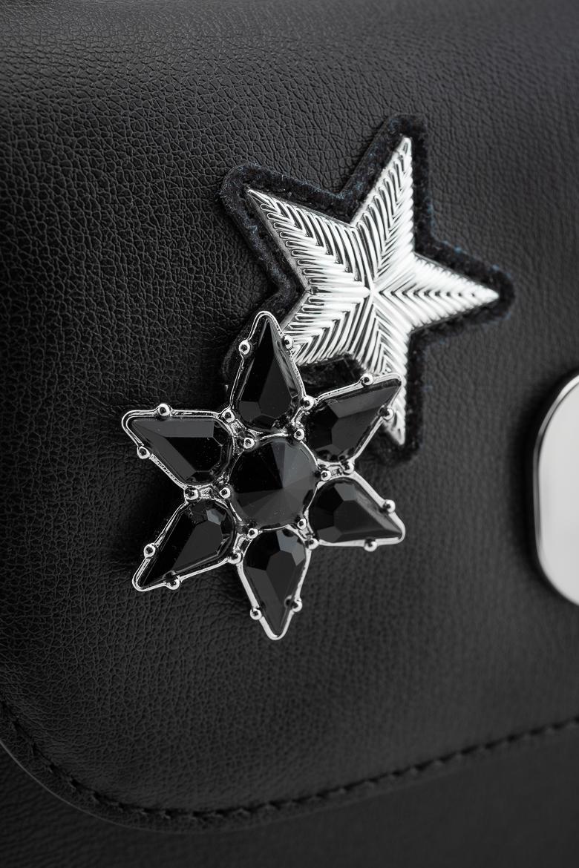 Kabelka - TOMMY HILFIGER TURN LOCK XOVER STARS čierna