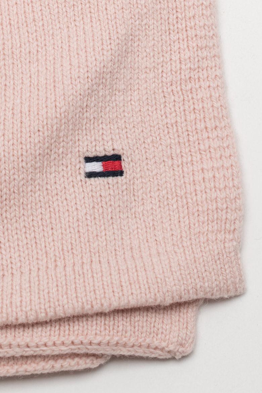 Šál - FLAG KNIT SCARF pastelovo ružový