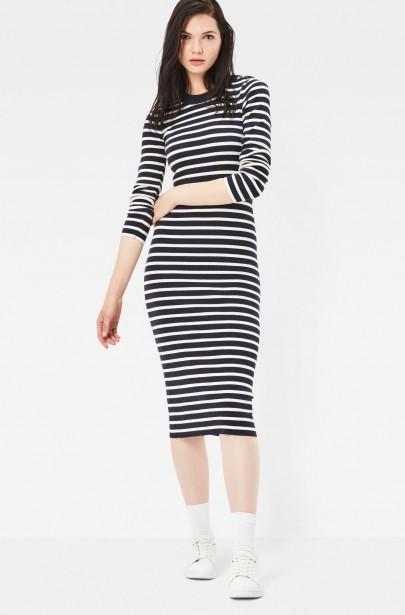 Šaty - G-STAR Exly stripe r dress knit wmn l ... 0d6b99c62e