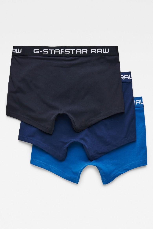 Boxerky 3-balenie - G-STAR Classic trunk clr 3 pack modro-čierne