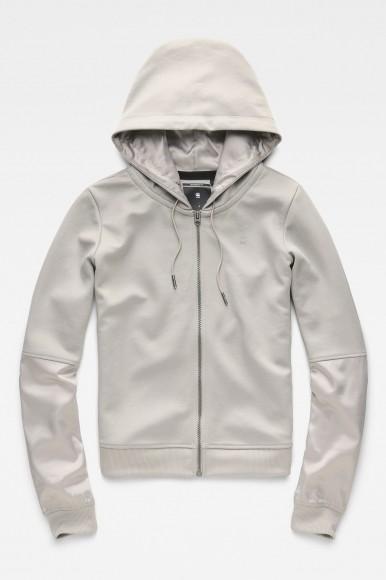 Mikina - G-STAR Craia fyx biker hooded zip sw wmn l