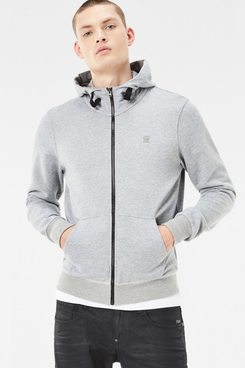 Mikina - G-STAR Core hooded zip sw l/s