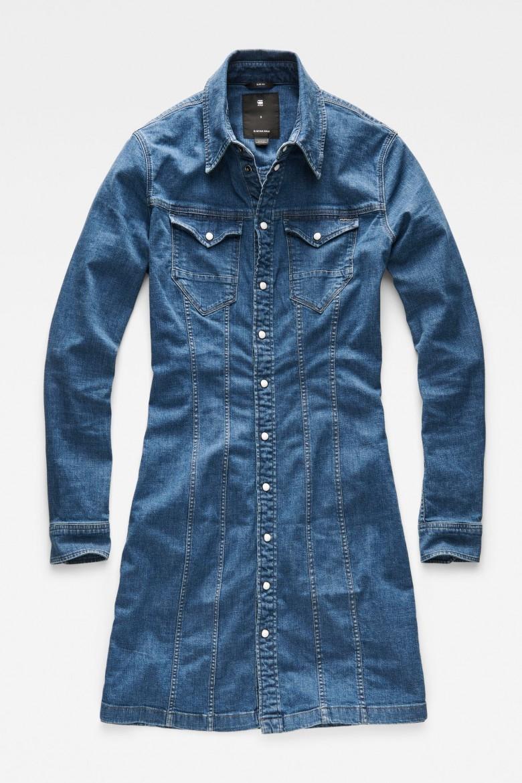 Šaty - G-STAR Tacoma slim dress l/s
