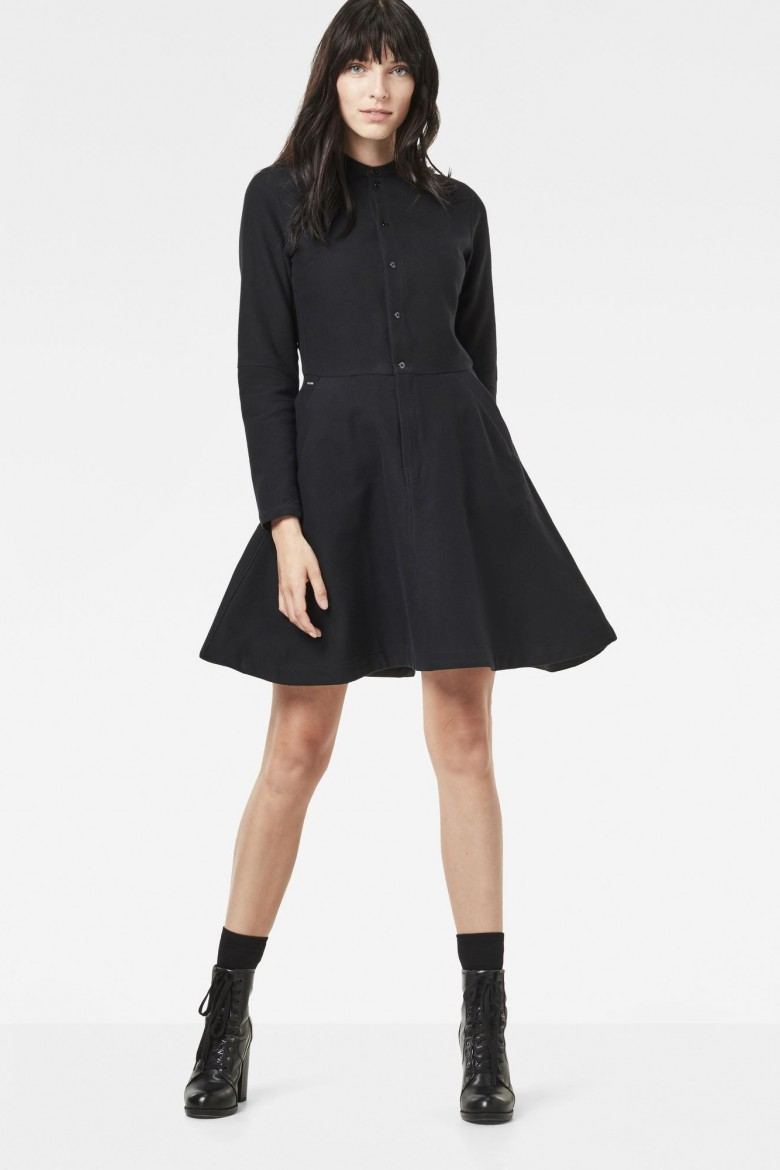 Šaty - G-STAR Bronson flare dress l/s