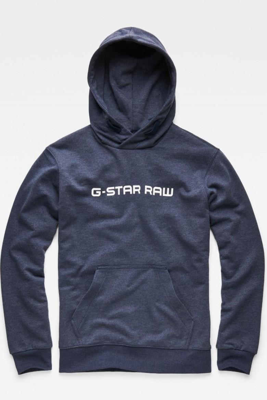 Mikina - G-STAR Loaq hooded sw l s modrá   1a1db2a74f6