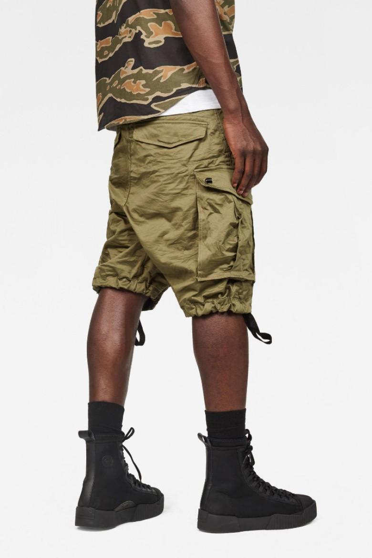 Krátke nohavice - G-STAR Rovic zip loose 1/2 khaki