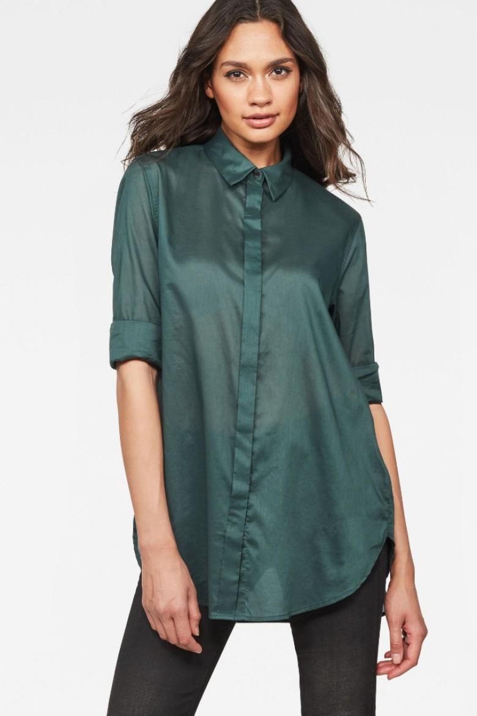 Košeľa - G-STAR Deline bf shirt wmn l/s zelená