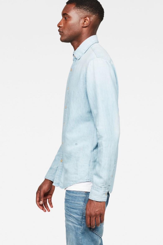 Košeľa - G-STAR Bristum shirt l/s modrá