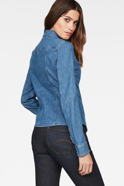Košeľa - G-STAR Tacoma slim shirt wmn l/s modrá