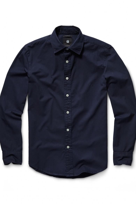 Košeľa - G-STAR Bristum shirt l/s tmavo-modro čierna