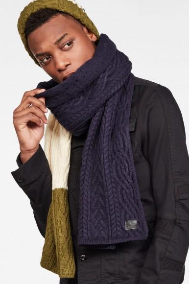 Zimný set - G-STAR Xemy cable scarf beanie giftpack viacfarebný